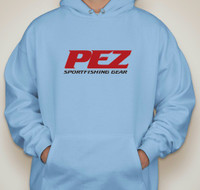Pez Performance Fishing Hoodie -Large - Carolina Blue