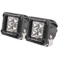 "HEISE 4 LED Cube Light w\/Harness - Spot Beam- 3"" - 2 Pack"