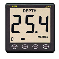 Clipper Depth Instrument w\/Thru Hull Transducer & Cover