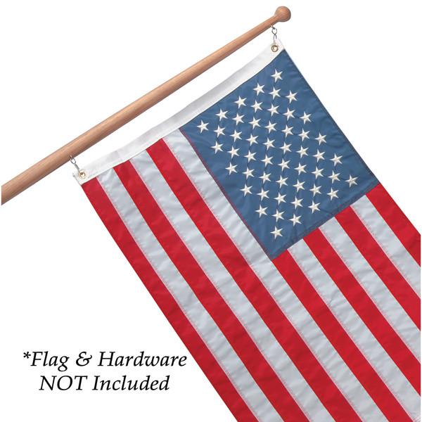 """Whitecap Teak Flag Pole - 30"""" - 1"""" Base Diameter"""