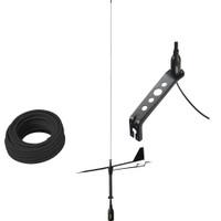 Glomex Black Swan VHF Antenna w\/Wind Indicator  66 Coax Cable