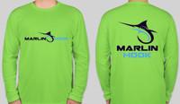 Marlin Hook Performance Shirt LS - Lime - XL