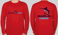 Marlin Hook Performance Shirt LS -Red - XL