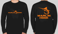 Marlin Hook Performance Shirt LS - Black/Orange - XL