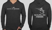 Marlin Long Sleeve Hoodie Tee - Black