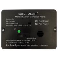 Safe-T-Alert 62 Series Carbon Monoxide Alarm w\/Relay - 12V - 62-542-R-Marine - Flush Mount - Black
