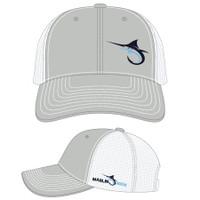 Marlin Hook Trucker Hat - Gray/White