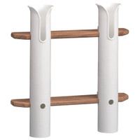 Whitecap Teak 2-Rod Tournament Storage Rack