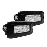 Rigid Industries SR-Q PRO Back Light Kit - Flush Mount Diffused - Pair - Black