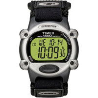 Timex Expedition Mens Chrono Alarm Timer Silver\/Black