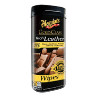 Meguiars Gold Class Rich Leather Cleaner  Conditioner Wipes *Case of 6*