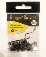 Size 1 Ringer Swivels™ are commonly rigged with Medium/Small/Dink sized ballyhoo. The o-ring is perfectly sized to accept the industry standard 6/0-8/0 circle hooks.