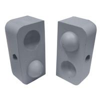 "Dock Edge Dockap Premium Foam Profile Large 2"" Cap - Putty Grey"