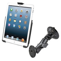 RAM Mount Suction Cup Mount w\/Apple iPad mini EZ-ROLL'R Cradle
