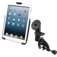 RAM Mount Yoke Clamp Mount w\/Apple iPad mini EZ-ROLL'R Cradle