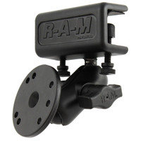RAM Mount Glare Shield Clamp Mount w\/Short Double Socket Arm & Round Base Adapter w\/AMPs Hole Pattern