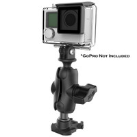 """RAM Mount RAM 1"""" Ball Adapter for GoPro Bases with Short Arm and Action Camera Adapter"""
