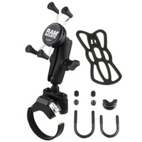 RAM Mount Strap Clamp, Roll Bar Mount w\/Universal X-Grip Cell\/iPhone Cradle
