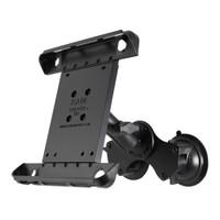 RAM Mount Double Twist-Lock Suction Cup Mount w\/Tab-Tite Universal Spring Loaded Cradle f\/Apple iPad 1-4 w\/or w\/o Light Duty Case