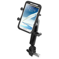 RAM Mount Tough-Claw Base w\/Long Double Socket Arm & Universal X-Grip IV f\/Large Phone\/Phablet Cradle