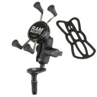 RAM Mount Fork Stem Mount w\/Short Double Socket Arm  Universal X-Grip Cell\/iPhone Cradle