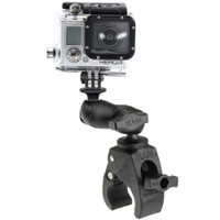 RAM Mount Small Tough-Claw Base w\/Short Double Socket Arm  GoPro\/Action Camera Mount