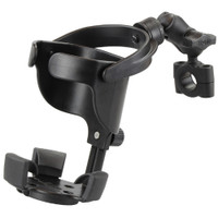"""RAM Mount RAM Level Cup XL with Torque 3\/4""""  1"""" Diameter Rail Base and Short Arm"""
