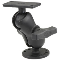 "RAM Mount 1.5"" Ball Mount w\/2.5"" Round Base, Short Arm  1.5"" x 3"" Plate f\/Humminbird Helix 5 Only"