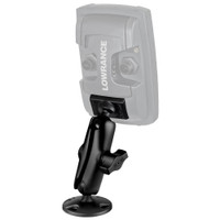 "RAM Mount 1"" Ball ""Light Use"" Composite Mount f\/Lowrance Elite-4 & Mark-4 Series Fishfinders"