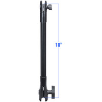 "RAM Mount 18"" Long Extension Pole w\/1"" and 1.5"" Single Open Sockets"