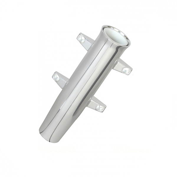 Lees Tackle Aluminum Side Mount Rod Holder - Tulip Style - Silver Anodize
