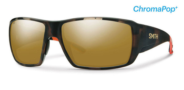 Smith Optics Sunglasses - Guide's Choice - Howler Matte Tortoise Frame - ChromaPop PLUS Polarized Bronze Mirror Lens