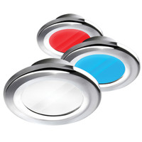 i2Systems Apeiron A3120 Screw Mount Light - Red, Cool White, Blue Light, Chrome Finish