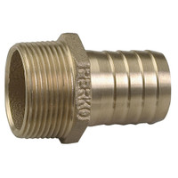 "Perko 1-1\/4"" Pipe to Hose Adapter Straight Bronze MADE IN THE USA"