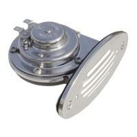 Ongaro Mini Single Drop-In Horn w\/SS Grill - 12V Low Pitch