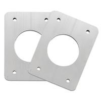 TACO Backing Plates f\/Grand Slam Outriggers - Anodized Aluminum