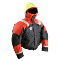 First Watch AB-1100 Flotation Bomber Jacket - Red\/Black - X-Large