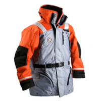 First Watch AC-1100 Flotation Coat - Orange\/Grey - X-Large