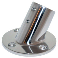 "Whitecap 1"" O.D. 60 Degree Round Base SS Rail Fitting"
