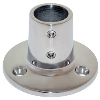 "Whitecap 1"" O.D. 90 Degree Round Base SS Rail Fitting"
