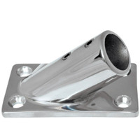 "Whitecap 1"" O.D. 30 Degree Rectangle Base SS Rail Fitting"