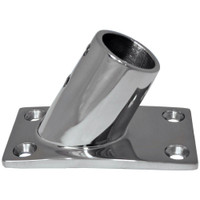 "Whitecap 1"" O.D. 60 Degree Rectangle Base SS Rail Fitting"