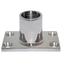 "Whitecap "" O.D. 90 Degree Rectangle Base SS Rail Fitting"