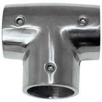 "Whitecap 1"" O.D. 90 Degree SS Tee Rail Fitting"