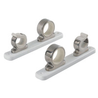 TACO 2-Rod Hanger w\/Poly Rack - Polished Stainless Steel