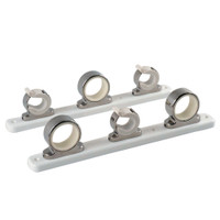TACO 3-Rod Hanger w\/Poly Rack - Polished Stainless Steel