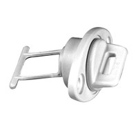 """Beckson 1"""" Drain Plug Screw Type w\/Gasket - White"""