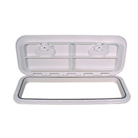 "Beckson 10x24"" Flush Hatch Horizontal or Vertical - White"