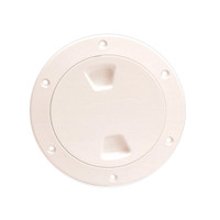 "Beckson 4"" Smooth Center Screw-Out Deck Plate - Beige"
