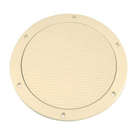 "Beckson 6"" Non-Skid Screw-Out Deck Plate - Beige"
